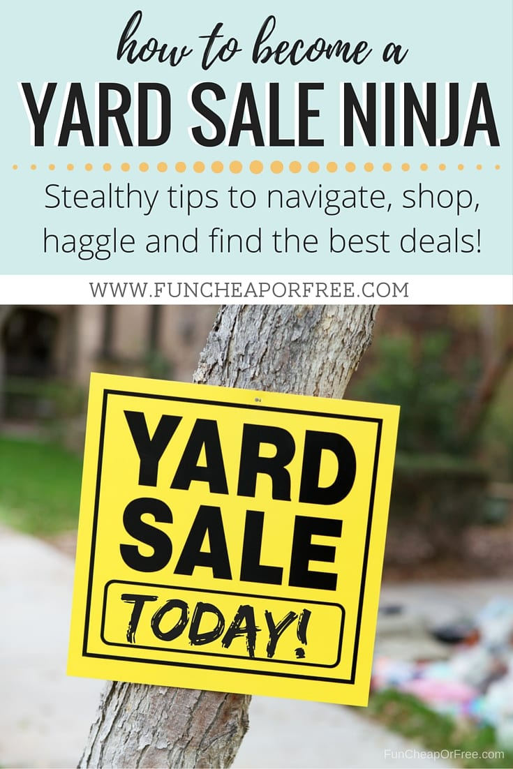 how to have a successful yard sale fundraiser