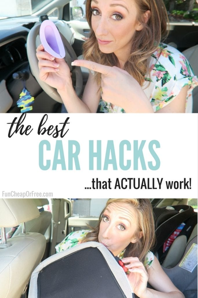 "Image with text that reads ""the best car hacks"" from Fun Cheap or Free"