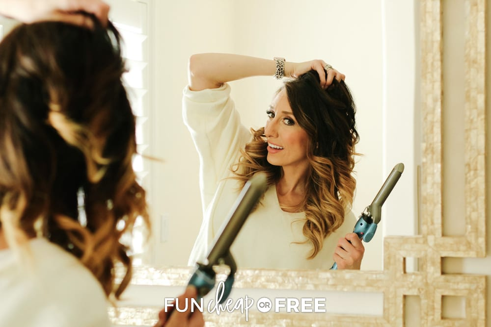Jordan curling her hair, from Fun Cheap or Free