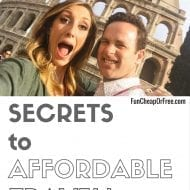 4 Secrets to affordable travel! (that you probably didn't know a..
