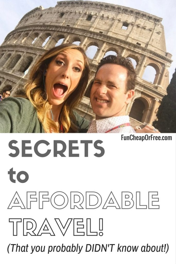 AMAZING secrets to affordable travel! I didn't know some of these!!
