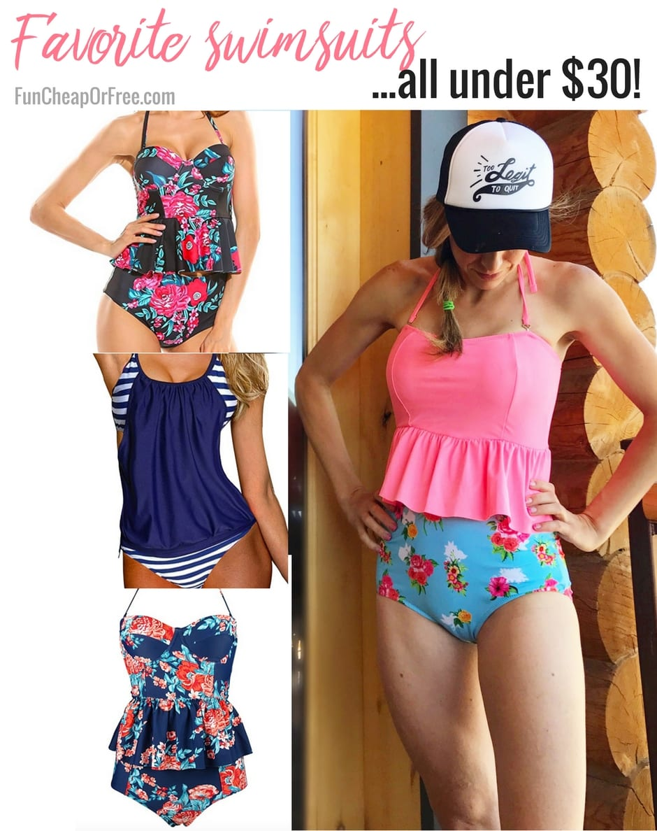 0384932bf1a8 My favorite swimsuits...all for under $30! (And no, this isn't ...