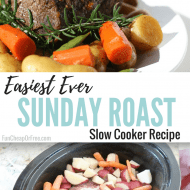 EASIEST EVER Sunday Roast Recipe! | Slow Cooker Roast