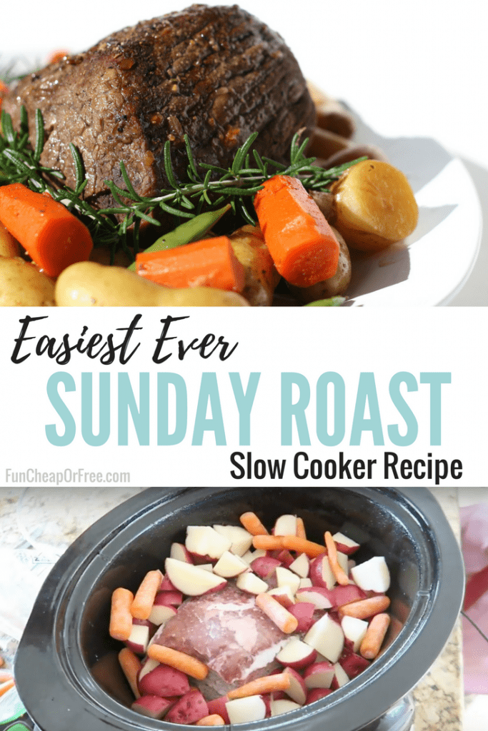 This is our easiest dinner EVER! Perfect for Sundays. All you need for this simple roast recipe is a few simple indgredients