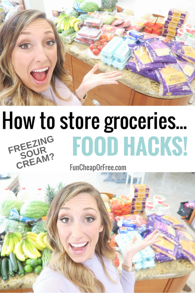 How to store groceries...Food Hacks! | FunCheapOrFree.com