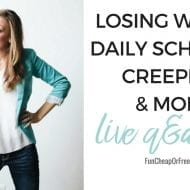 How I lost weight, my daily schedule, creepers, and more! {Live Q&#038..