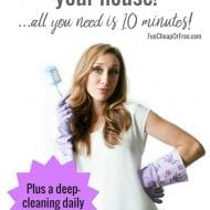 How to speed clean your house! (plus a deep-cleaning daily printable!)