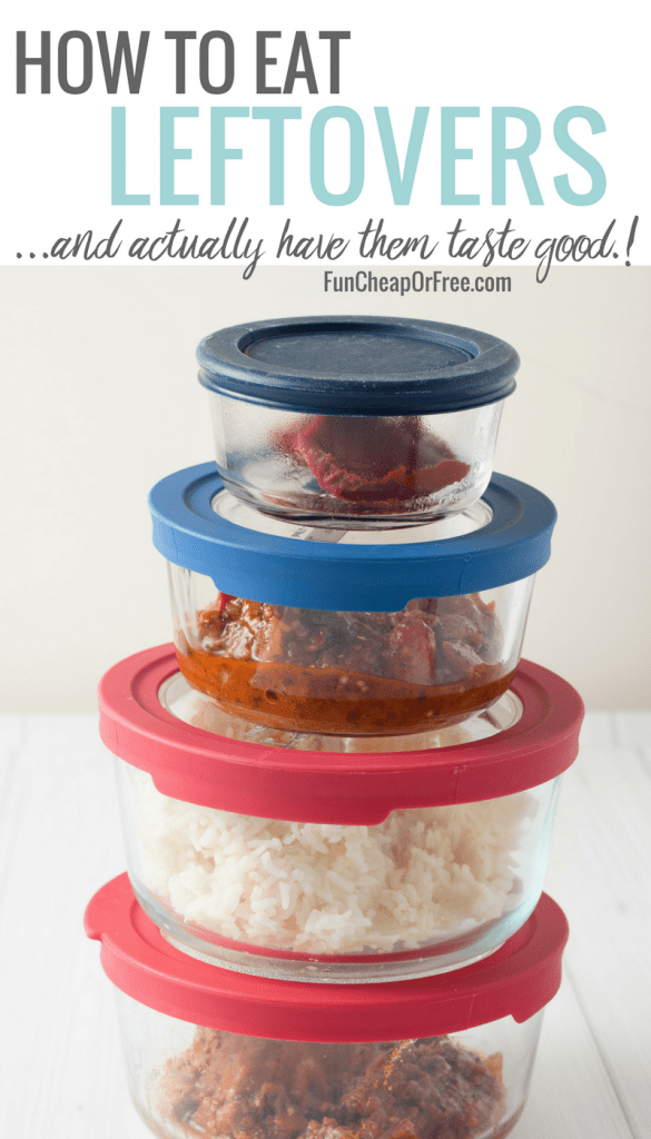 How to eat leftovers...and actually make them taste good! #Shelftember FunCheapOrFree.com
