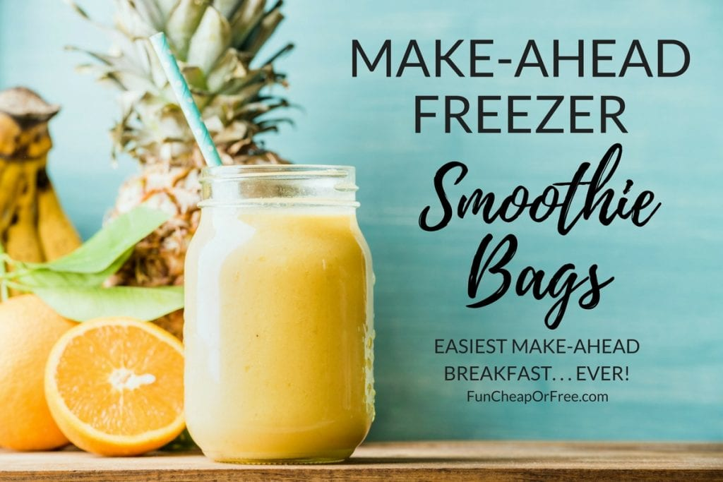 Smoothie bags are GENIUS!!!!! So easy for breakfast! Freeze, dump, blend. Love this idea!
