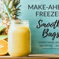 Freezer smoothie bags! Make-ahead breakfast of champions.