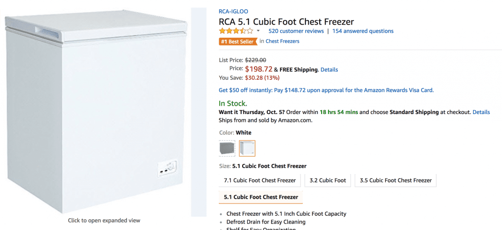Freezer giveaway