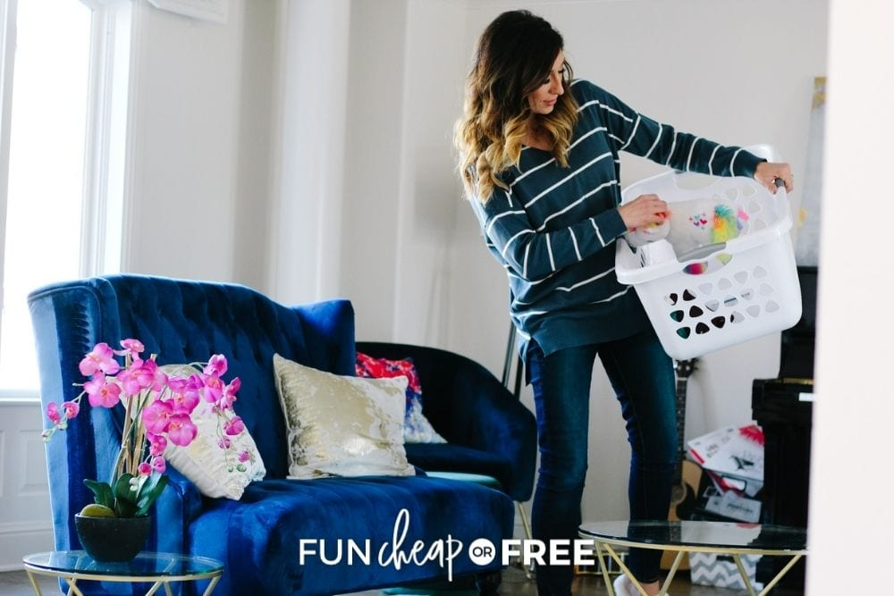 Jordan Page cleaning home, from Fun Cheap or Free