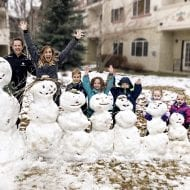 Our growing snowman family…
