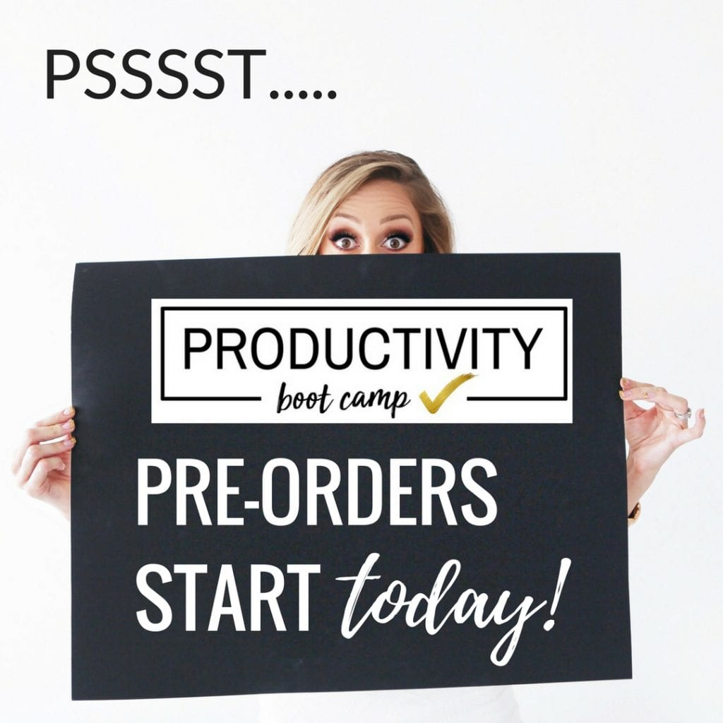 SALE! Pre-orders are just $99, reg $197! Includes 28 engaging videos, several surprise bonus videos and you own Productivity Planner to help you tackle your overwhelm get organized! Your life done better™ with Productivity Boot Camp!
