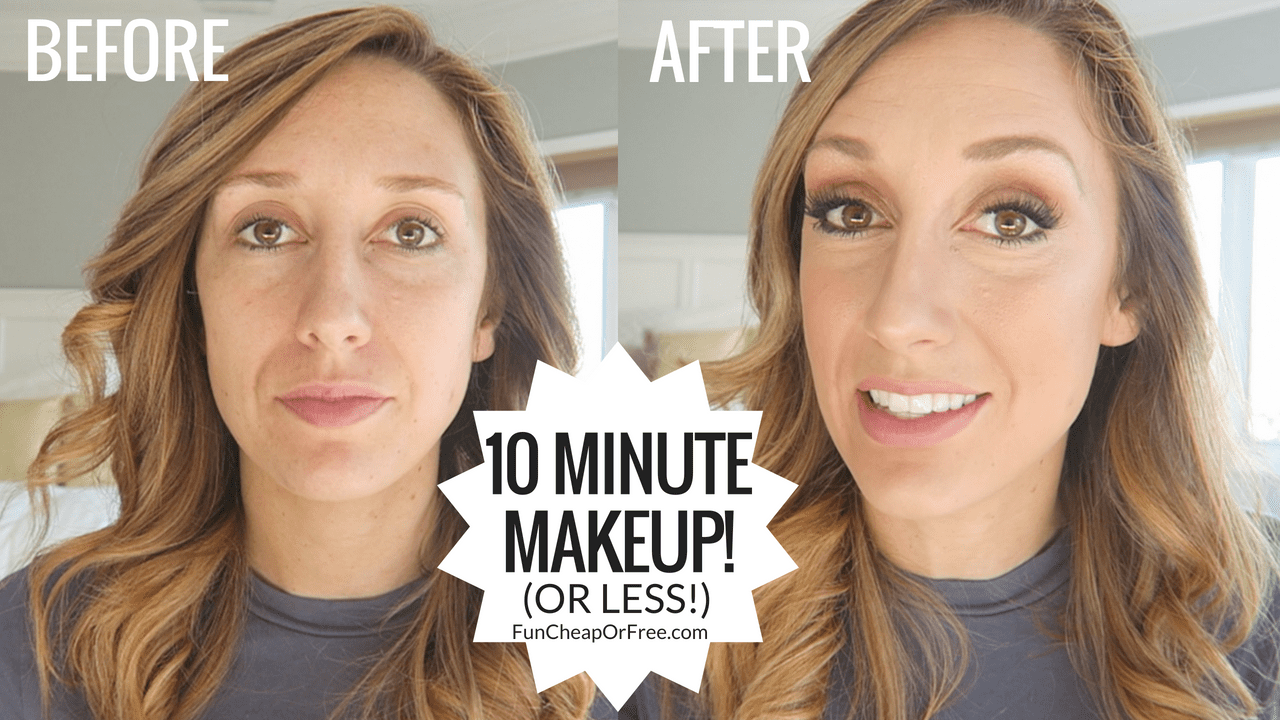 I am no make up artist, but I get asked frequently about my makeup so here's how I do it! It seems like a lot of steps but I've been doing it this way for so long, I can be fully ready in less than 10 minutes! Many of the products I use are drug store products, so it's an affordable look for anyone | FunCheapOrFree.com