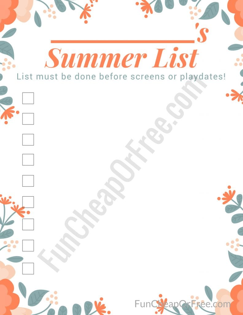 """""""CHORE ZONES"""" printable for summer - such a sanity saver!! With video instructions. GAME CHANGER FOR SURE!"""