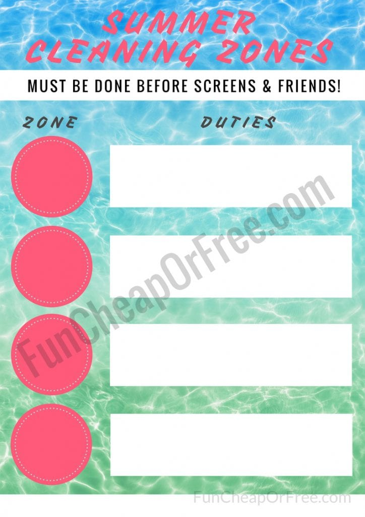 image regarding Summer Chore Chart Printable identify 3 Summer season Courses in direction of Conserve your Sanity! Cost-free PRINTABLES