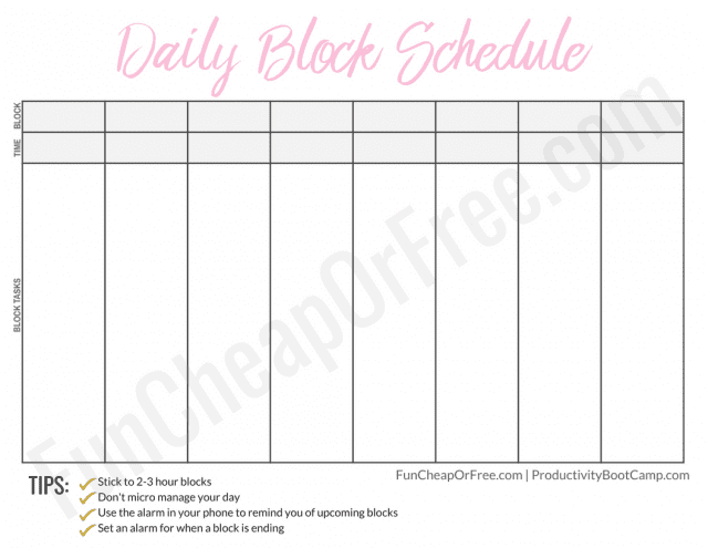 The Block Schedule System What It Is How It Works And How It Will