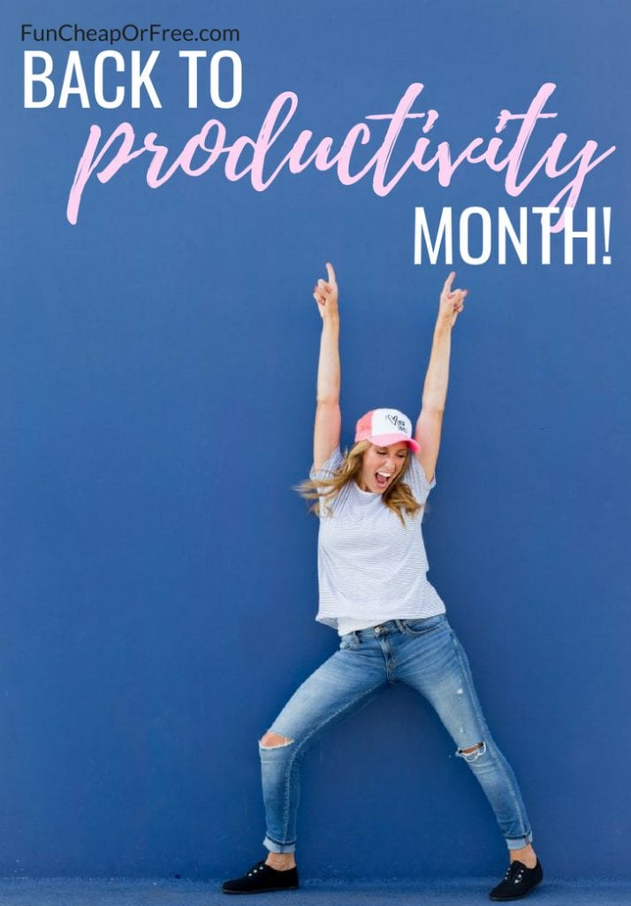 Back to Productivity month...YES PLEASE! Become productive, organized, and super successful with an amazing FREE back to productivity calendar from funcheaporfree.com!
