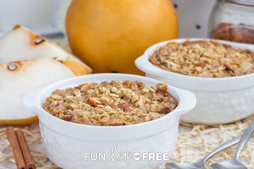 baked pear oatmeal, from Fun Cheap or Free