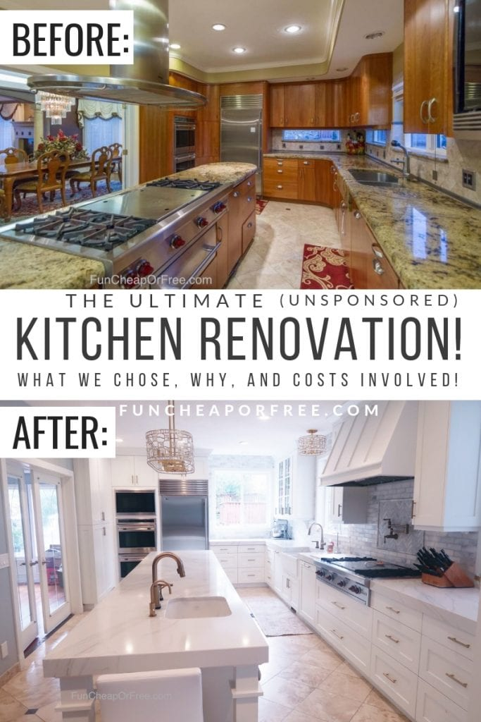 Kitchen renovation details! How much we paid, what we choose, how long it took, everything you need to know! From FunCheaporFree.com