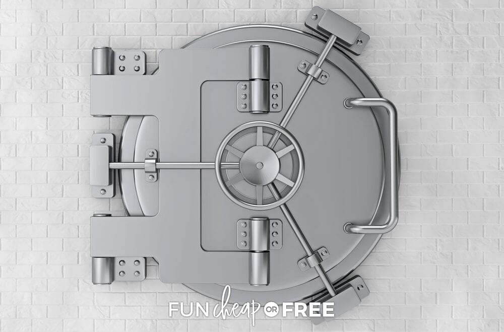 Bank vault on a wall, from Fun Cheap or Free