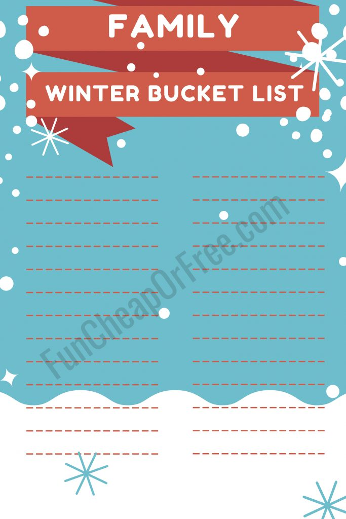 printable winter bucket list - only $9.99 to print at Costco! So cute! From FunCheapOrFree.com