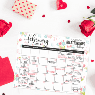 FREE 'Focused on Relationships' printable calendar for Feb. Weekly challenges to help you strengthen relationships with friends, spouse, family, etc. THIS IS AMAZING!! From FunCheapOrFree.com""