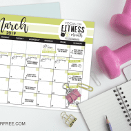 March: Focus on Fitness Month – FREE printable calendar, weekly chal..