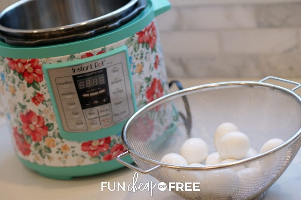 eggs next to an Instant Pot, from Fun Cheap or Free
