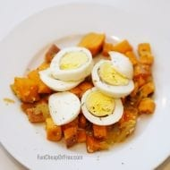 SO Easy and delicious! Sweet Potato and Egg Breakfast Bowls are quickly becoming my favorite go-to breakfast! I love that the ingredients can be made ahead! From FunCheapOrFree.com