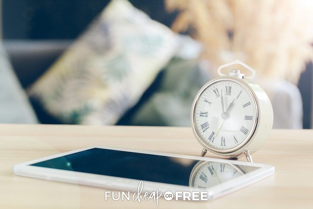 Set a timer to help you clean faster, this works awesome with the laundry basket trick from Fun Cheap or Free