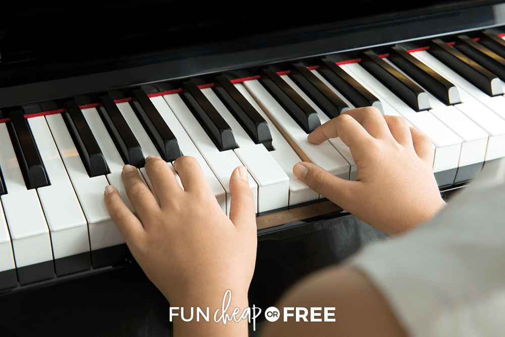 child playing piano, from Fun Cheap or Free
