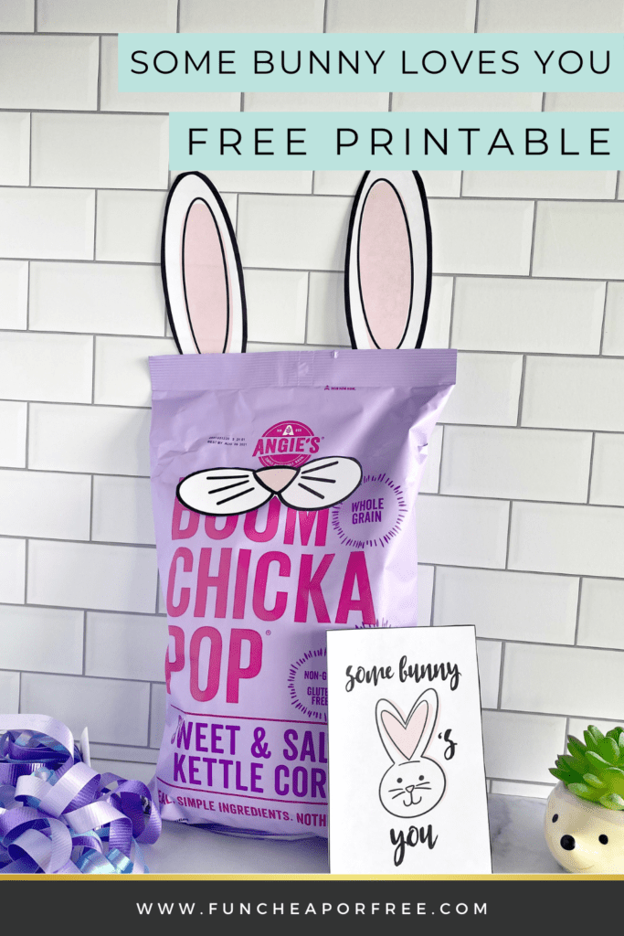 Some bunny loves you printable and popcorn, from Fun Cheap or Free