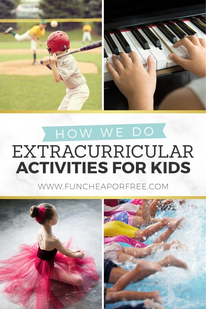 """Image that reads """"how we do extracurricular activities"""", from Fun Cheap or Free"""