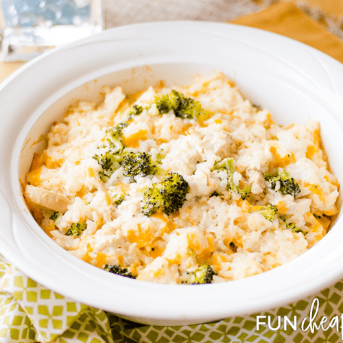 Chicken Broccoli Rice Casserole - An easy one dish recipe from Fun Cheap or Free.