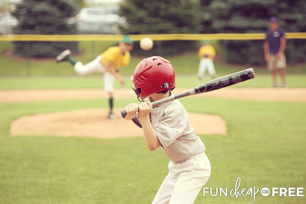 Baseball as an extracurricular activity for kids.