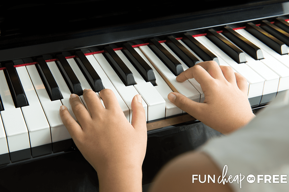 Piano as an extracurricular activity.
