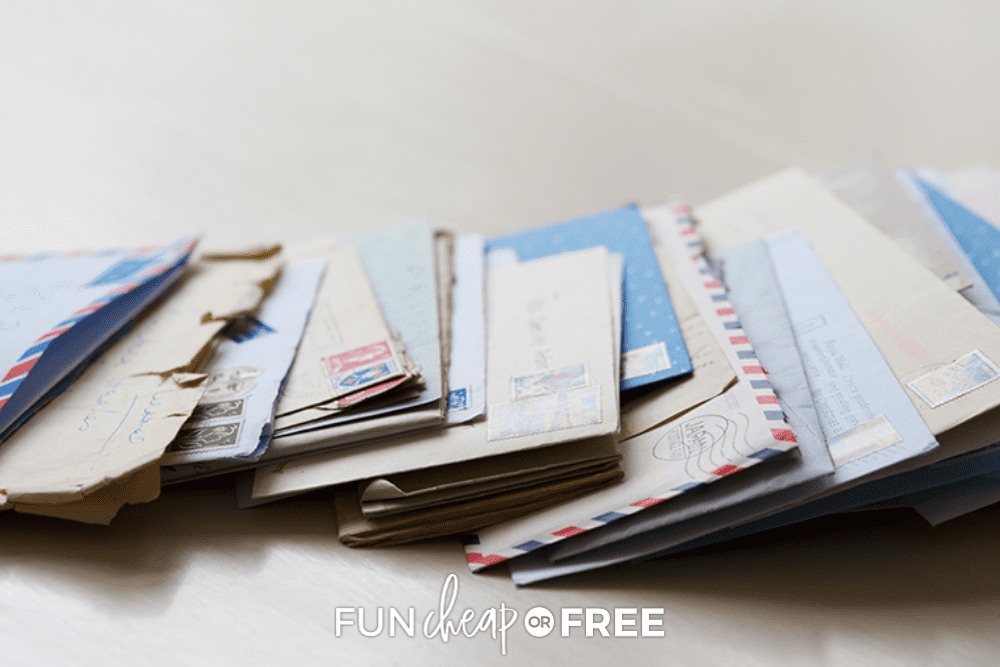 sorting mail after vacation, from Fun Cheap or Free