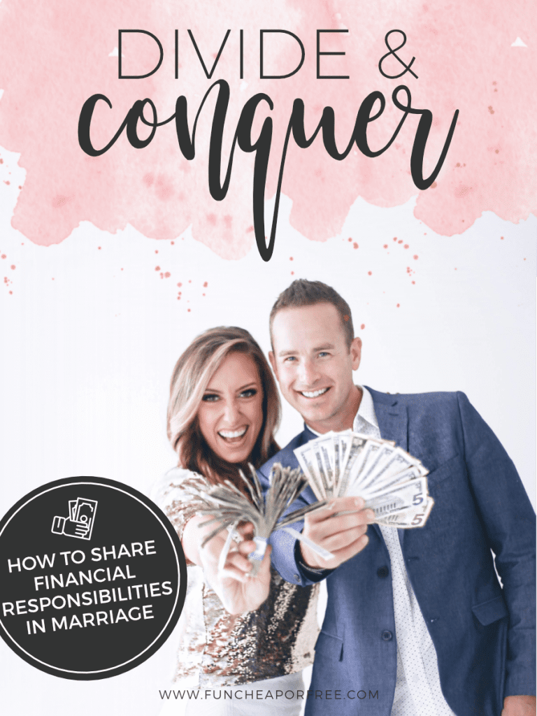Divide and Conquer!! How to share financial responsibilities in marriage from Fun Cheap or Free