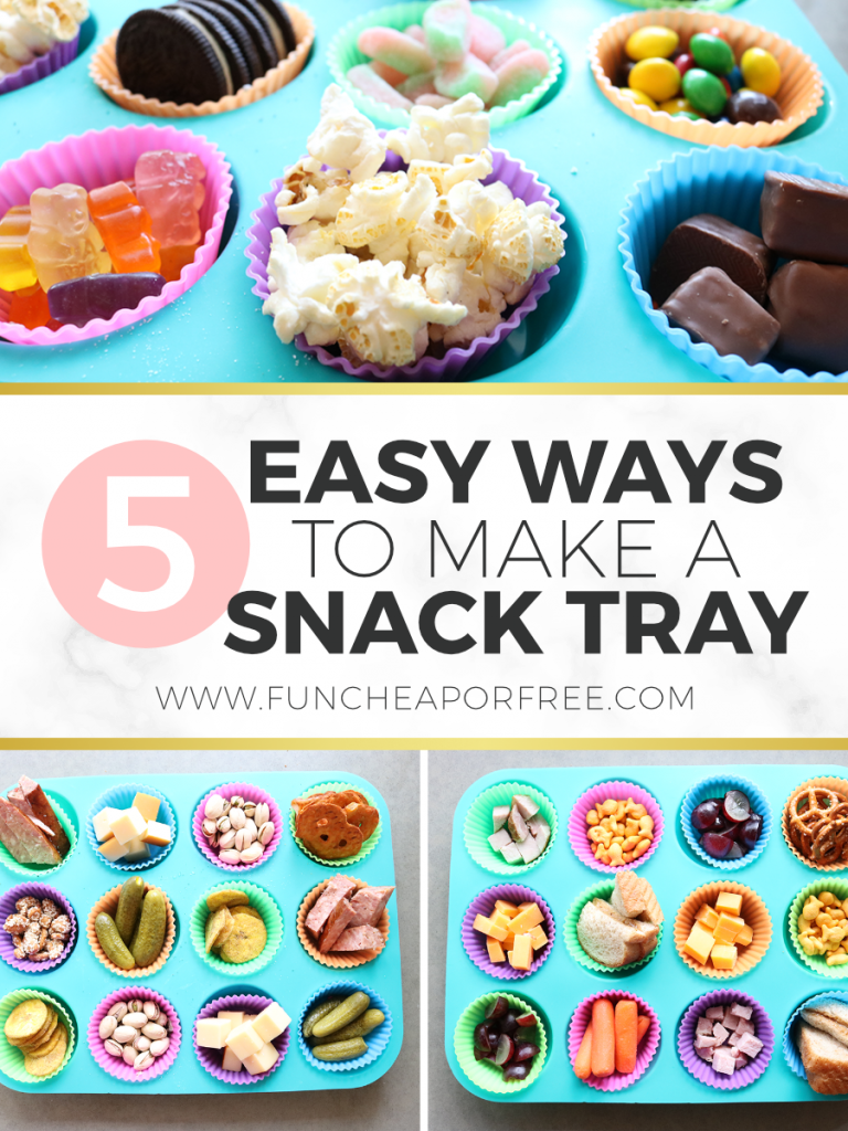 Mix up snack time with these 5 easy ways to make a snack tray from Fun Cheap or Free
