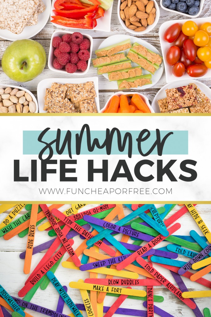 Summer life hacks to make your life run smoothly from Fun Cheap or Free