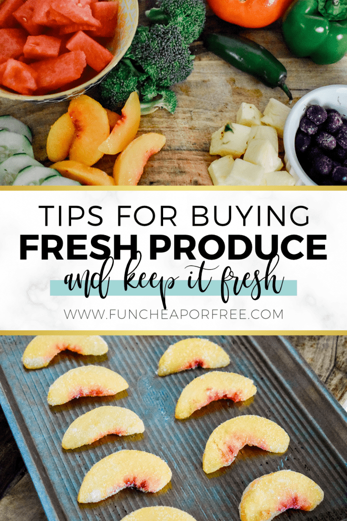 Tips for buying fresh produce and keep it fresh from Fun Cheap or Free