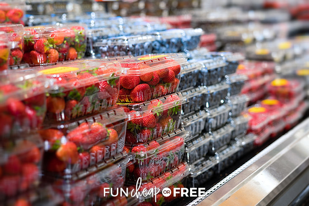 berries at the grocery store, from Fun Cheap or Free