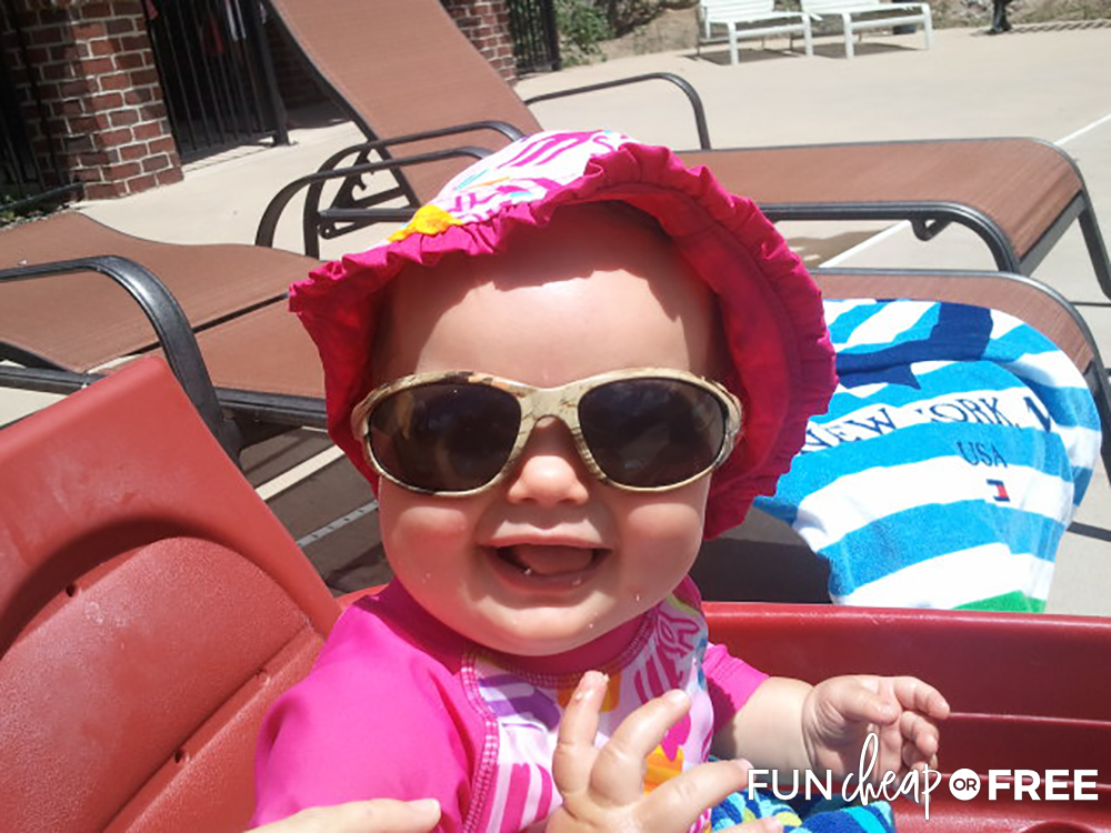 Baby Wearing Sunglasses from Fun Cheap or Free