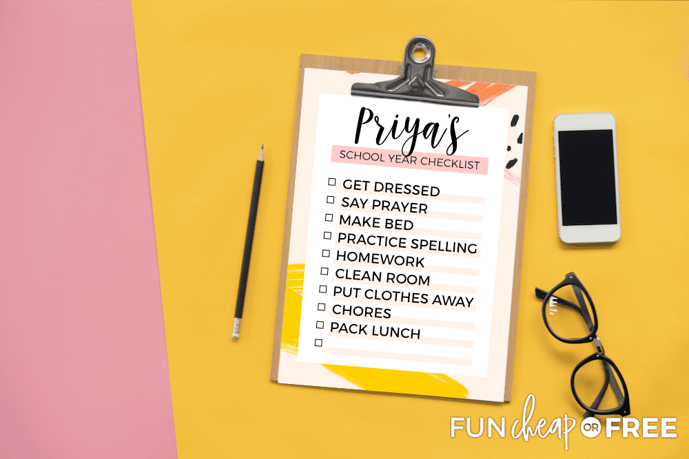 School Year Checklist from Fun Cheap or Free