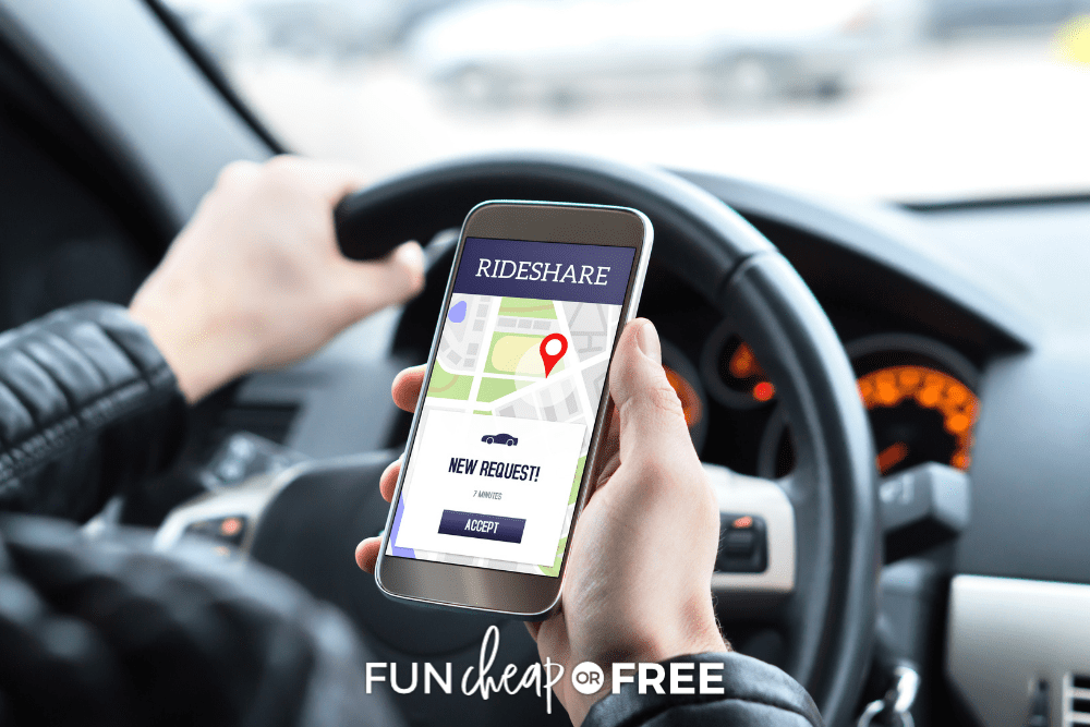 earn money with ride sharing on your phone, from Fun Cheap or Free