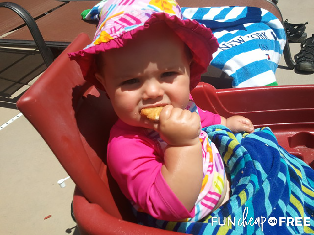 Eating Cracker At The Swimming Pool from Fun Cheap or Free