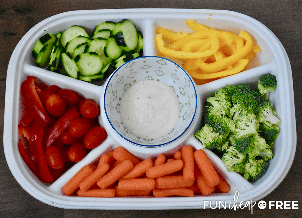 Healthy Snack Tray from Fun Cheap or Free