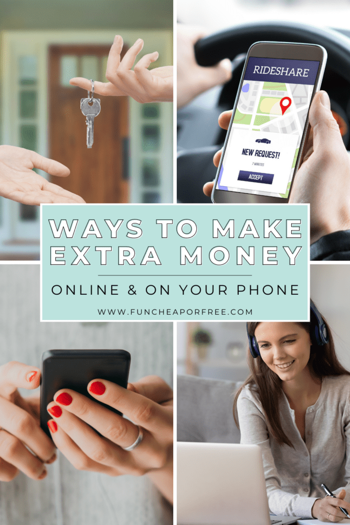 """Image with text that reads """"ways to make extra money"""" from Fun Cheap or Free"""